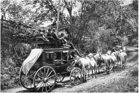 Cascade Road stagecoach - 1870